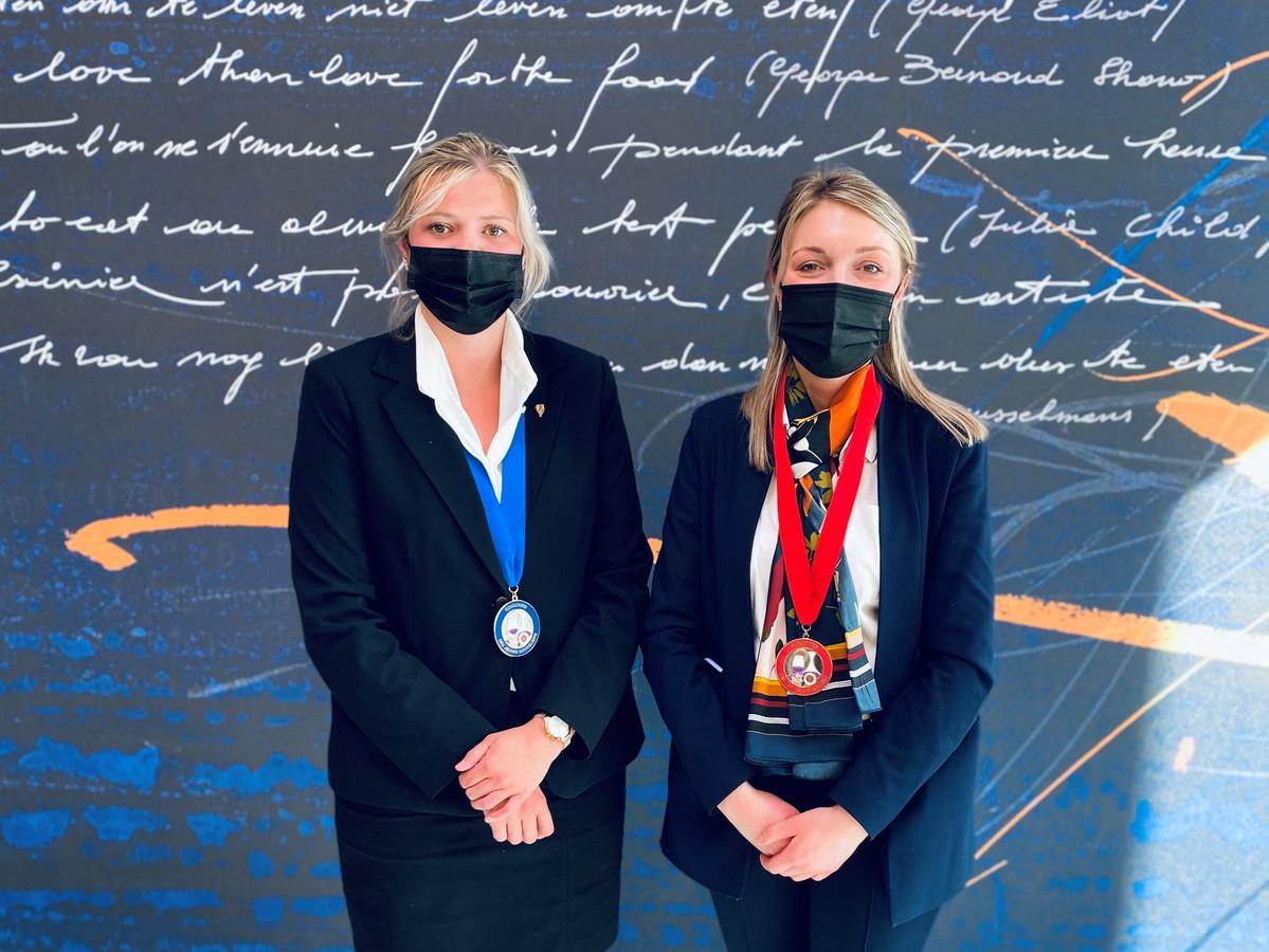Elise De Waele (links) behaalde een mooie tweede plaats.