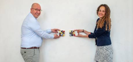 Bossche kunstenaar verbindt stadsgenoten met tweeluikjes: 'Geven brengt meer energie dan krijgen'