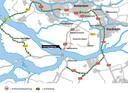 De omleidingsroutes in verband met de werkzaamheden aan de Haringvlietbrug.