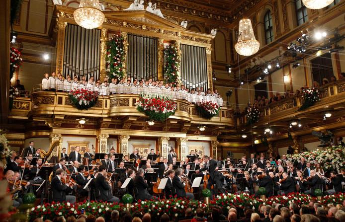De Goldener Saal is steevast het decor van het traditionele nieuwjaarsconcert.