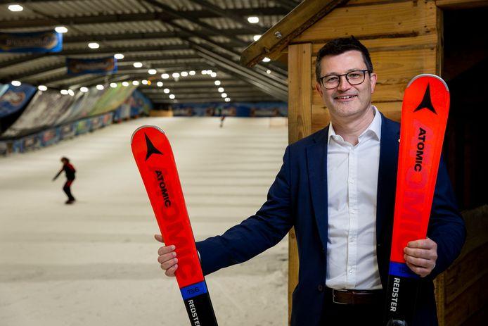 Nieuwe mister SnowWorld Wim Hubrechtsen hoopt SnowWorld in de skilift omhoog te krijgen.