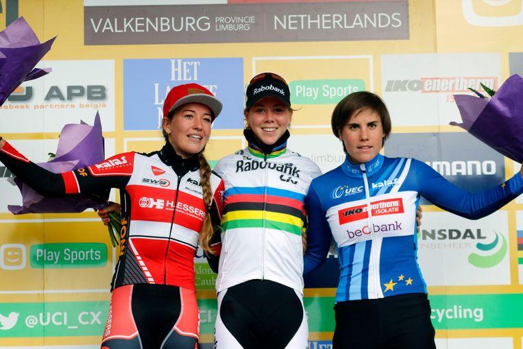 Sanne Cant (r) zal moeten afrekenen met wereldkampioene Thalita de Jong Beeld Photo News