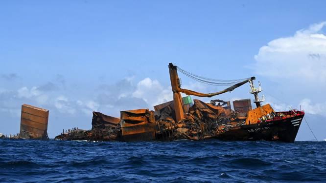"""Uitgebrand containerschip al deels gezonken voor kust Sri Lanka: """"Natuurschade is enorm"""""""