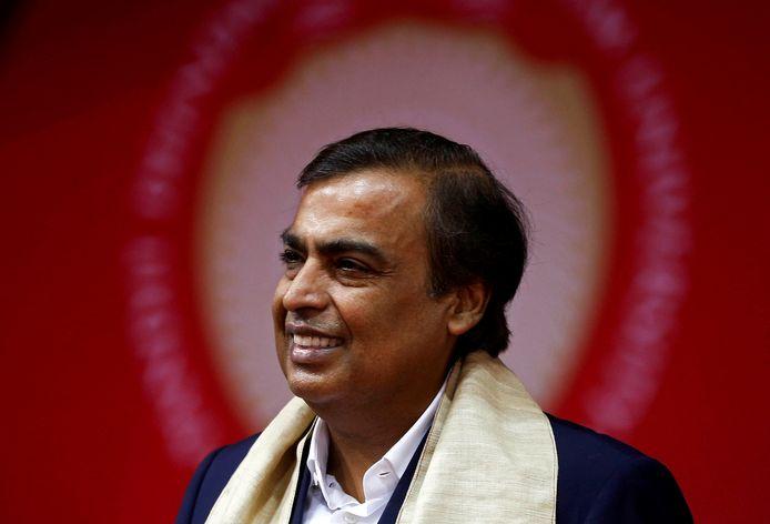 Mukesh Ambani, directeur van het familiebedrijf Reliance Industries