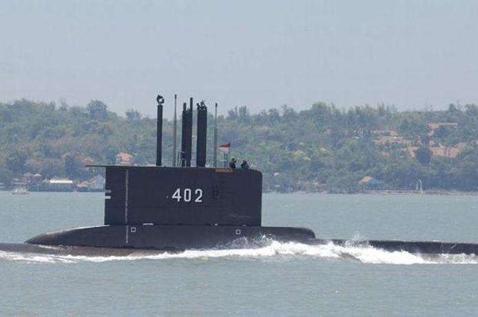 De vermiste Indonesische duikboot KRI Nanggala-402.