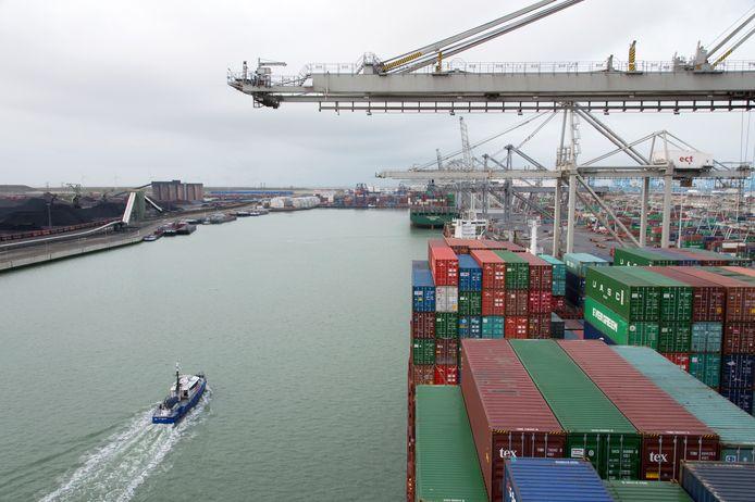 De twee Rotterdammers worden ervan verdacht een container met bananen en drugs te hebben gestolen van de Delta terminal van Europe Container Terminals (ECT), in de Rotterdamse haven.