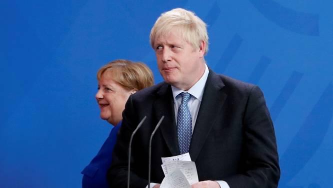 Merkel waarschuwt Johnson: brexitdeal kansloos zonder compromis over Ierland