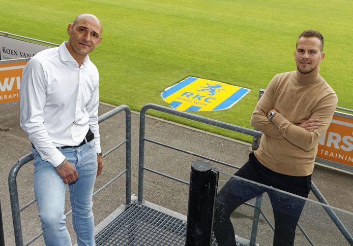 Volgens technisch directeur Mo Allach (links) en algemeen directeur Frank van Mosselveld heeft de selectie van RKC Waalwijk voldoende kwaliteit om in de eredivisie te blijven.