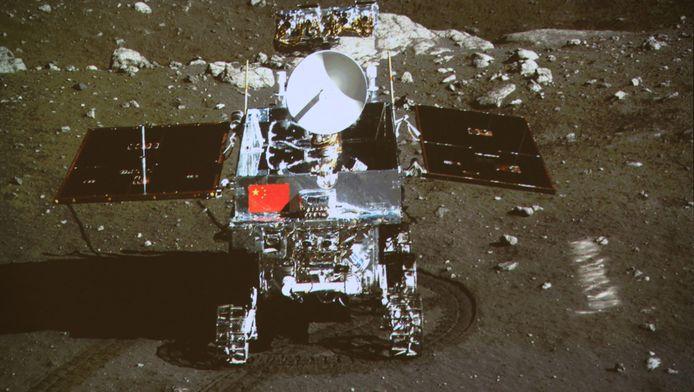 De maanlander Chang'e-3, op een foto van 15 december 2013.