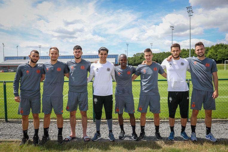 Enkele zomeraankopen van Anderlecht: Kristal Abazaj, Yevhen Makarenko, Elias Cobbaut, Ilias Moutha-Sebtaoui, Knowledge Musona, Luka Adzic, Thomas Didillon en Antonio Milic.