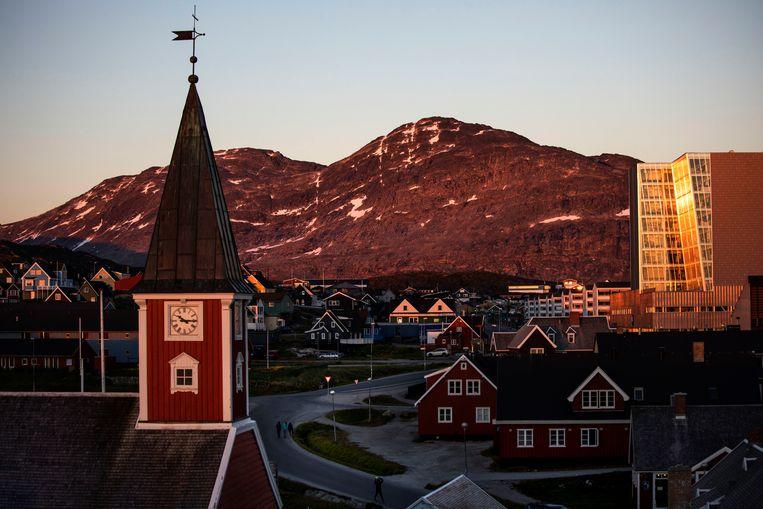 De Groenlandse hoofdstad Nuuk.