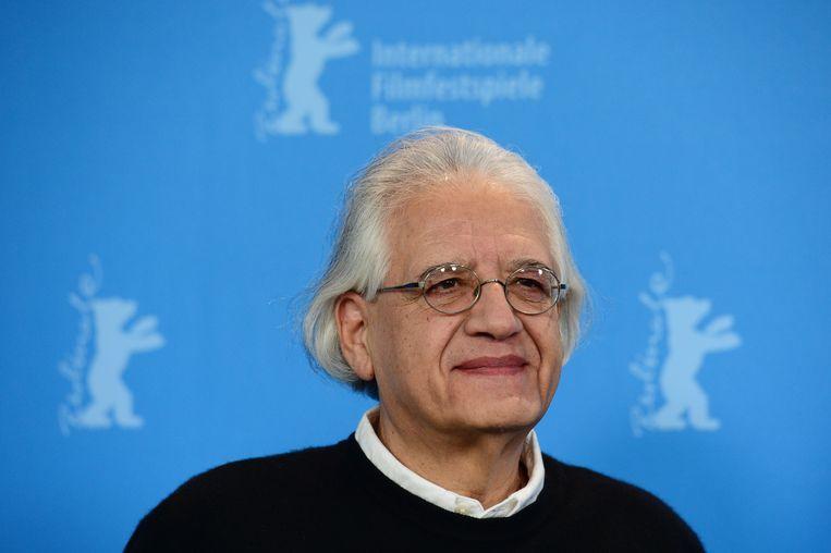 Chileense regisseur Patricio Guzmán bij de Berlinale bij de première van zijn film El botón de nácar (The Pearl Button). Beeld AFP/John Macdougall