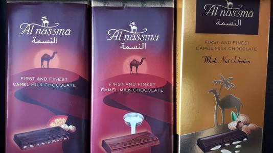 Chocolade gemaakt van kamelenmelk smaakt toch echt anders.