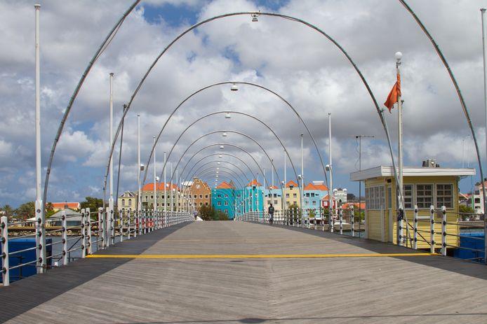 Willemstad op Curacao.