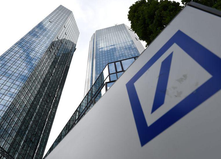 Hoofdkwartier van Deutsche Bank in Frankfurt.  Beeld EPA