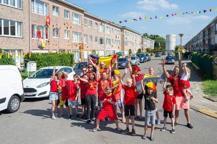 De Populierenlaan kleurt zwart-geel-rood voor het EK