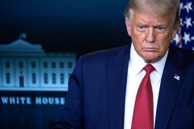 De Amerikaanse president Trump. Beeld EPA