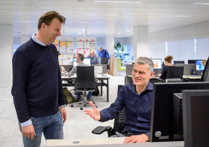 Bas van Gemert (links) en Ard-Jan Moerdijk van Dela in Eindhoven.