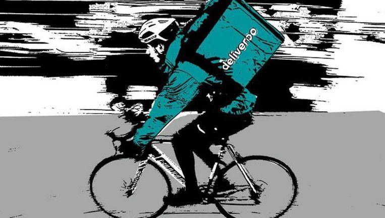 Over tien jaar zullen elke dag 100.000 pakketjes worden bezorgd in Amsterdam. Beeld AFP/beeldbewerking Het Parool