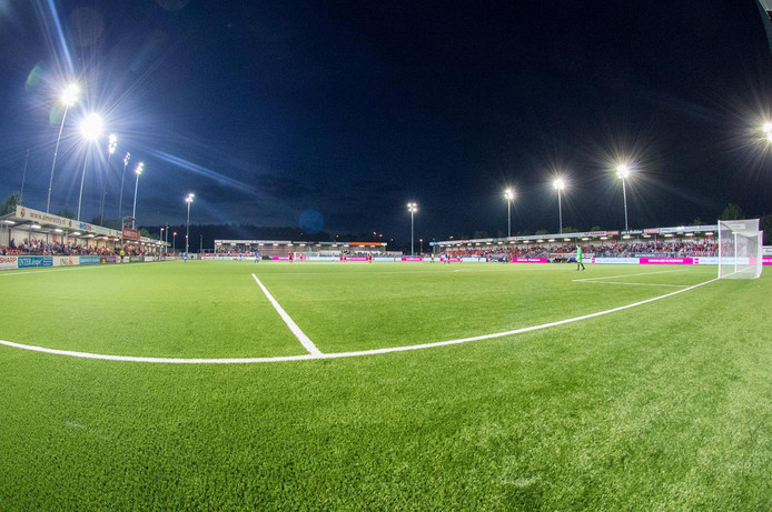 Het Yanmar Stadion in Almere.