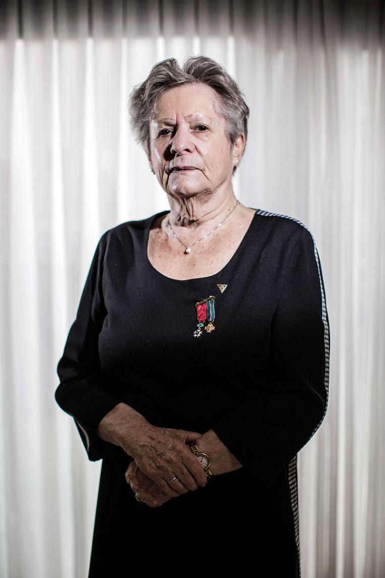 Haar inspanningen om het verhaal van het verzet naar buiten te brengen leverden Bertje de titel van Ridder in de Kroonorde op, de hoogste onderscheiding die je als burger kan krijgen. Beeld Bob Van Mol