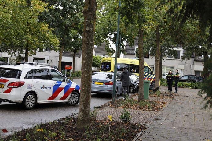 Een vrouw is gewond geraakt toen ze met haar auto op een boom botste in de Tijmlaan in Grave.