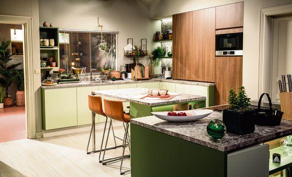 Mintgroen frist elke keuken op.