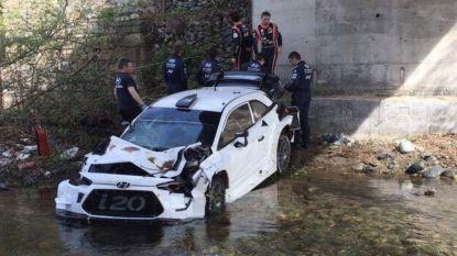 Thierry Neuville ontsnapt aan drama bij crash in rivier