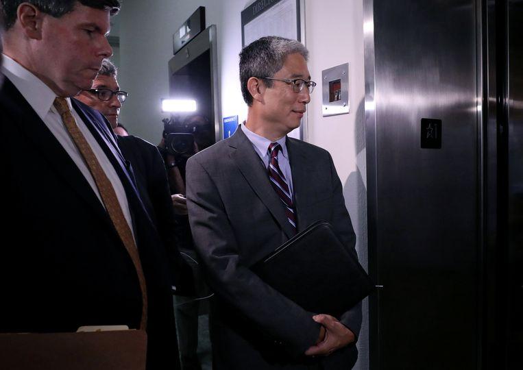 Bruce Ohr nadat hij voor de commissie van het Congres had getuigd. Beeld REUTERS