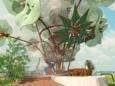 Een impressie van de zogenaamde klimaatboom, een combinatie van een educatieve speeltuin en een kunstwerk.
