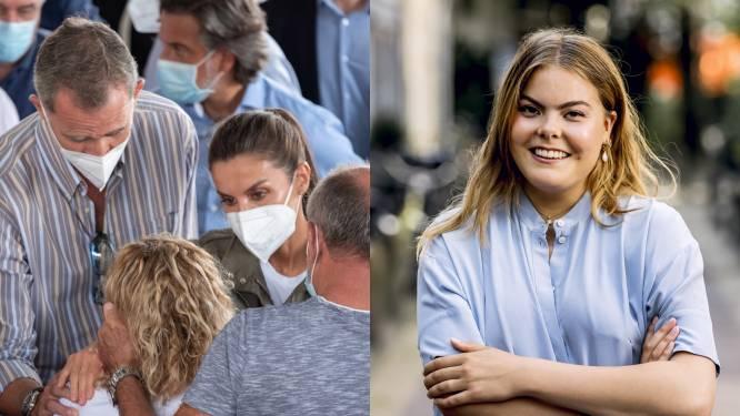 ROYAL BITS. Spaanse koning spreekt slachtoffers van vulkaanuitbarsting moed in en 'gravinfluencer' Eloise zet misverstand recht