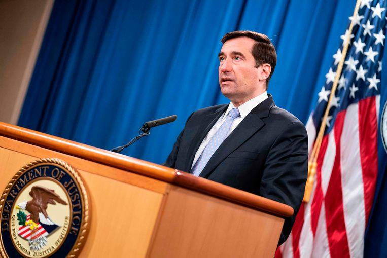 De Amerikaanse topambtenaar op het gebied van nationale veiligheid John Demers. Beeld AFP