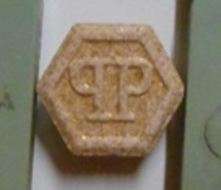 XTC-tabletten met logo van Philippe Plein. Beeld Parket Limburg