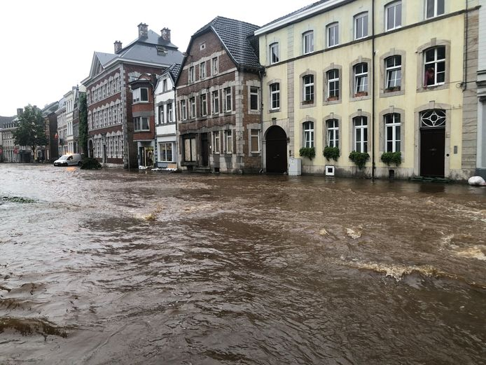 In Eupen waren er al zware overstromingen gisteren.