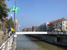 Bruxelles inaugure en fanfare deux passerelles cyclo-piétonnes au-dessus du canal