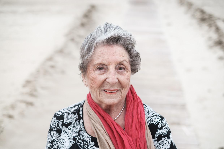 Regina Sluszny: 'Ik zal pas stoppen met mijn strijd wanneer de 'ondergedoken kinderen' erkend worden als oorlogsslachtoffer.'  Beeld Bob Van Mol
