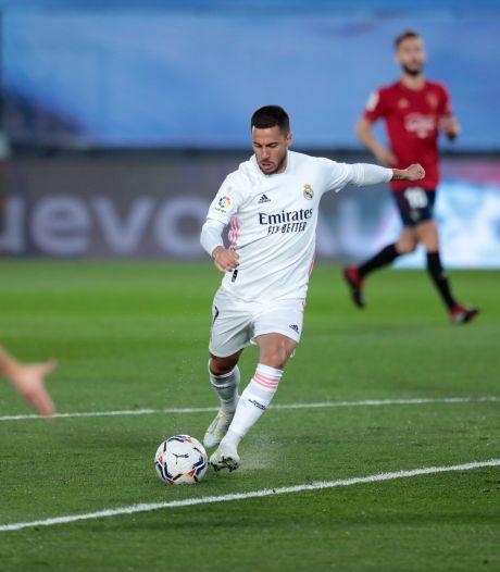 Le Real vient à bout d'Osasuna, retour réussi pour Eden Hazard