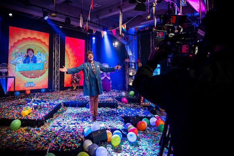 De Grote Carnavalsshow, een online livestream als alternatief voor het jaarlijkse carnavalsfeest. Beeld ANP