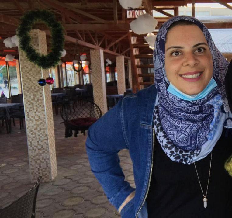 Laila Barhoum is werkzaam voor de hulporganisatie Oxfam Novib in de Gazastrook, waar ze ook woont.  Beeld Laila Barhoum