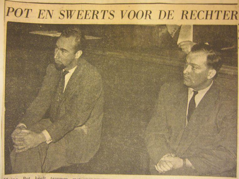 Sweerts kreeg in 1951 op een Belgisch proces eerst een jaar cel voor illegale wapendracht maar zag vervolgens ook zijn doodstraf van kort na de oorlog omgezet worden in levenslang. Pas in 1957 werd hij in beroep vrijgesproken. Beeld RV