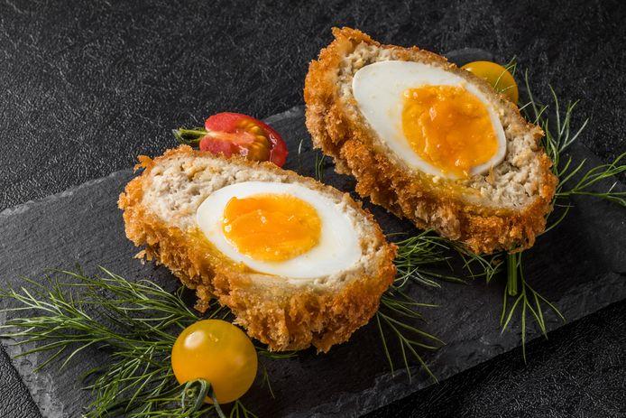 Scotch Fried Eggs.