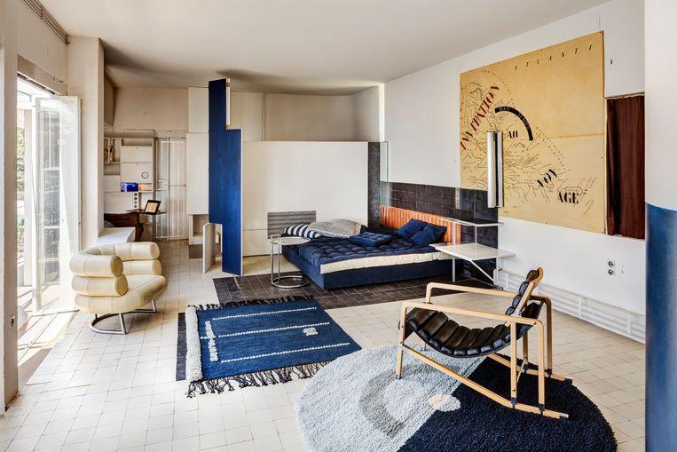 'Beschouw dit huis niet als perfect', schreef Eileen Gray in 1929.Maar de woning werd een architectuuricoon. Ze ontwierp ook zelf alle meubels. Beeld RV
