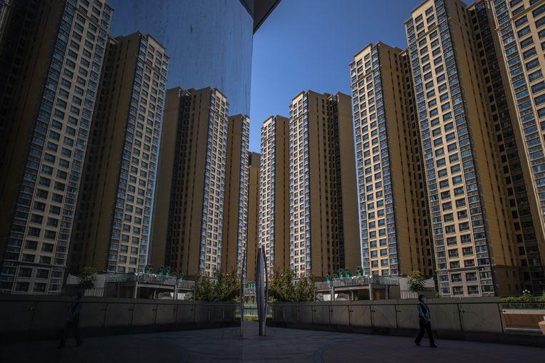 Appartementenblokken in Peking, ontwikkeld door Evergrande.  Beeld EPA
