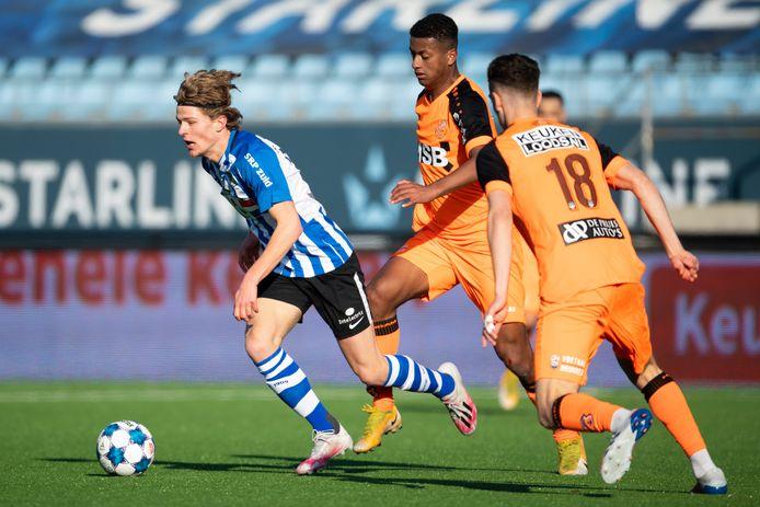 Jasper Dahlhaus vorige week in zijn eerste minuten namens FC Eindhoven tegen FC Volendam