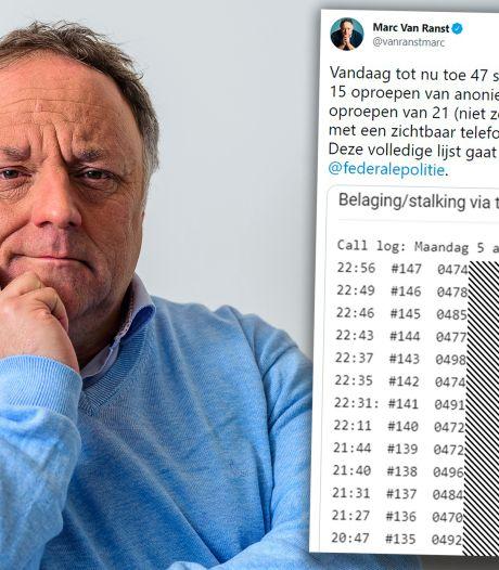 Marc Van Ranst dresse une liste de 147 harceleurs téléphoniques qu'il va donner à la police