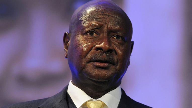 De Ugandese president Yoweri Museveni Beeld ap
