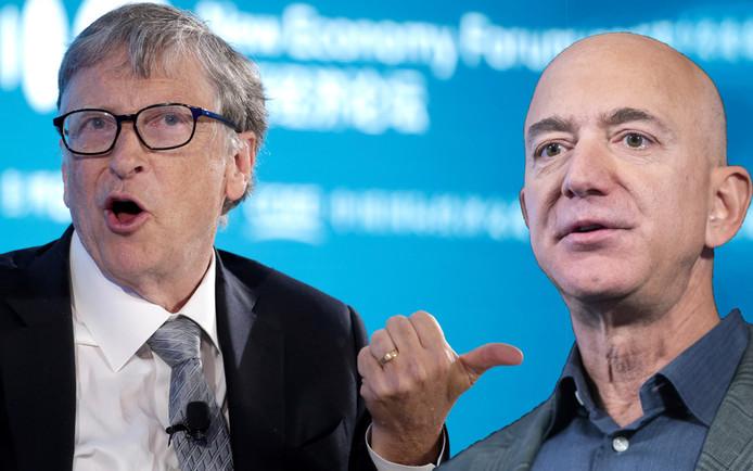Bill Gates (ex-Microsoft) ou Jeff Bezos (Amazon)