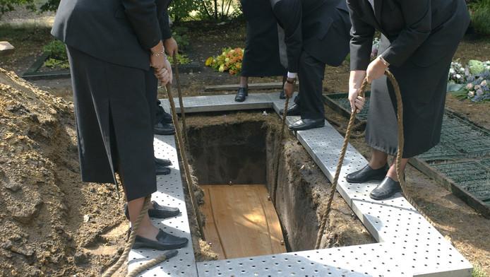 Begrafenis.