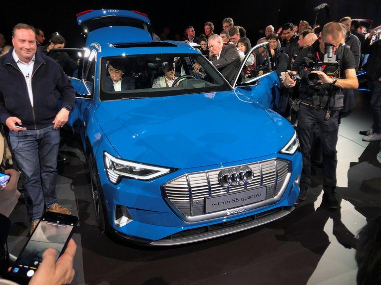 De Audi e-Tron werd enkele uren geleden officieel voorgesteld in Richmond, een stad nabij San Francisco.