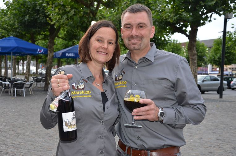 Django Marecaux en zijn vrouw Imgard zullen vertegenwoordigd zijn met hun lokale bier Mareklop.